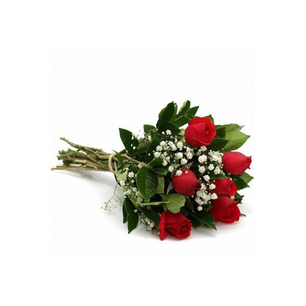 Buquê de Rosa Vermelha - 6 Unidades
