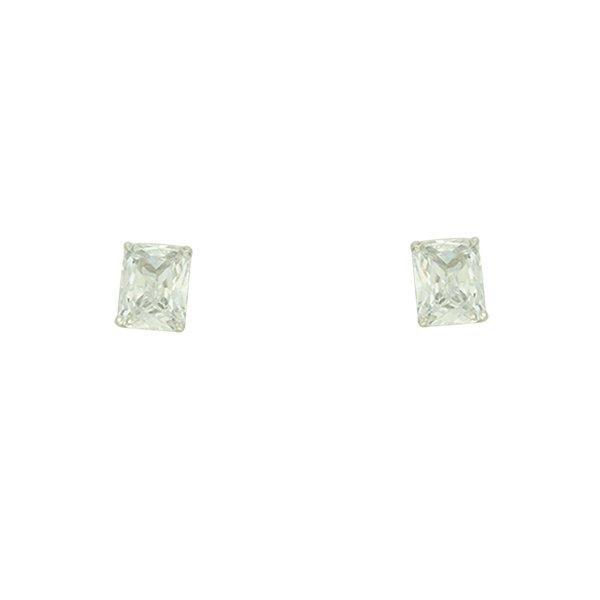 Brinco Zircônia Lesprit LB08711WCL Ródio Cristal