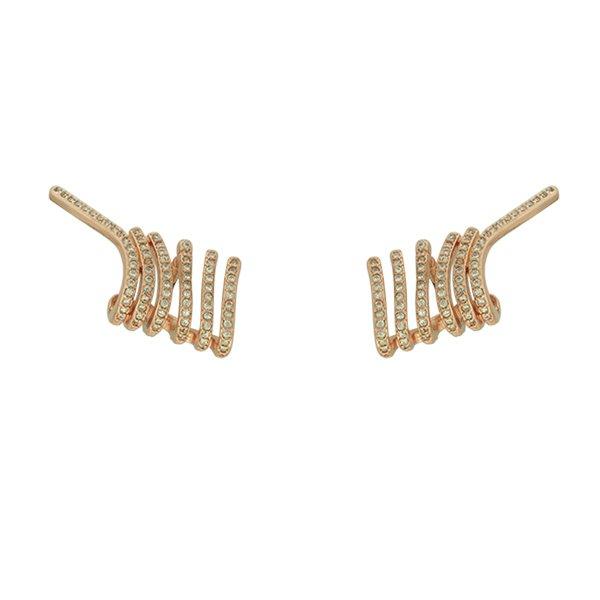 Brinco Ear Cuff Zircônia Lesprit LB11441WROSE Rosé Cristal