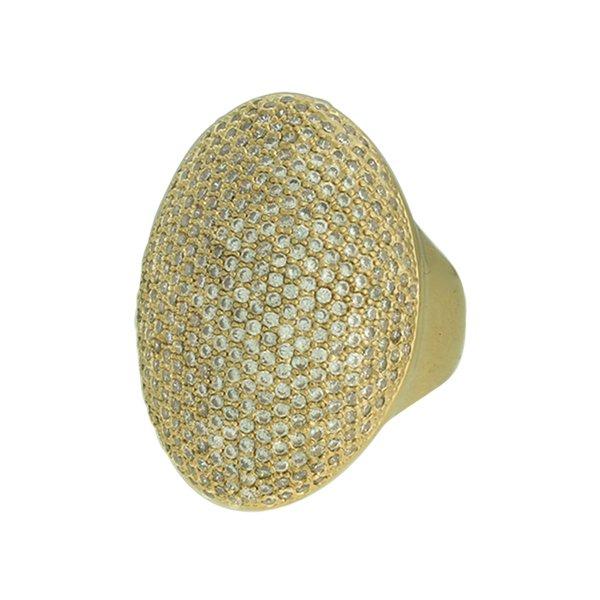 Anel Zircônia Lesprit LA04781WGL Dourado Cristal