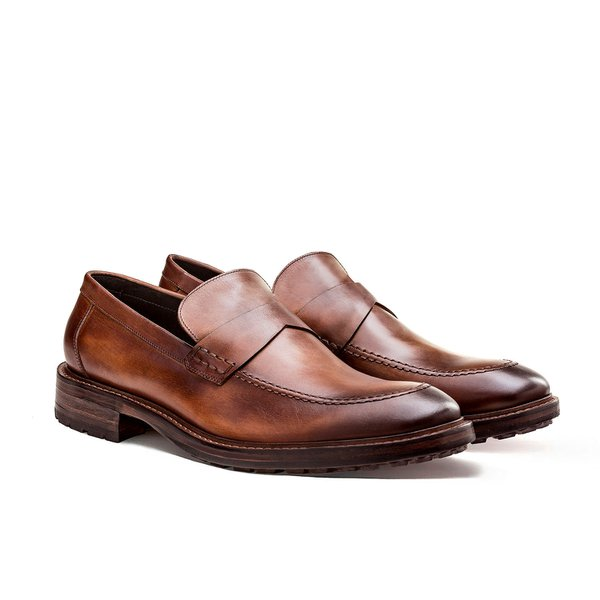 SAPATO MASCULINO LOAFER BROOME WHISKY