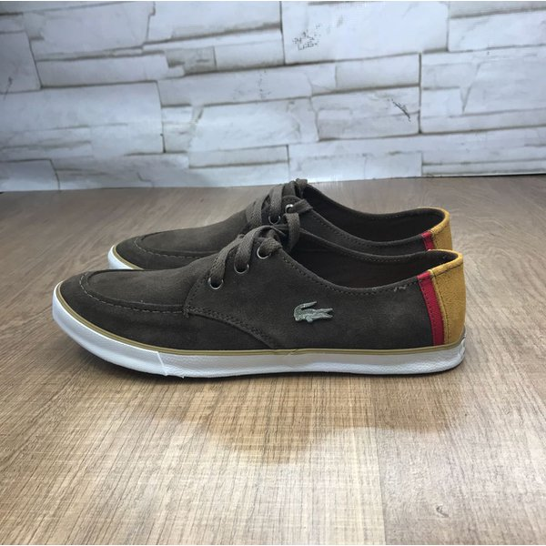 6c6145dffa616 Sapatênis Lacoste Marrom   ALL STYLE OUTLET