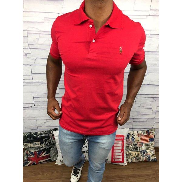 Polo Ralph Lauren Vermelha com cavalo colorido 6b96a0e43be