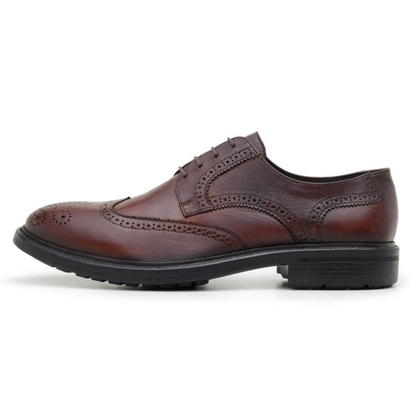 SAPATO CASUAL MASCULINO DERBY CNS BROGUE FRANK 2 WHISKY
