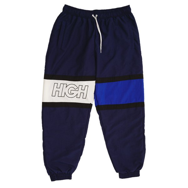 TRACK PANTS HIGH STRAP OUTLINE NAVY WHITE