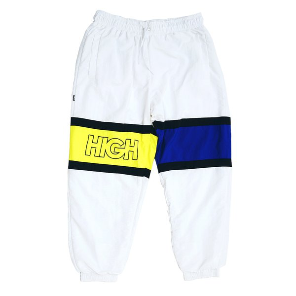 TRACK PANTS HIGH STRAP OUTLINE WHITE NAVY