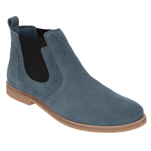 Botina Chelsea Boots ESCRETE Azul Turqueza Em Couro Camurça 502 ce770d9378591