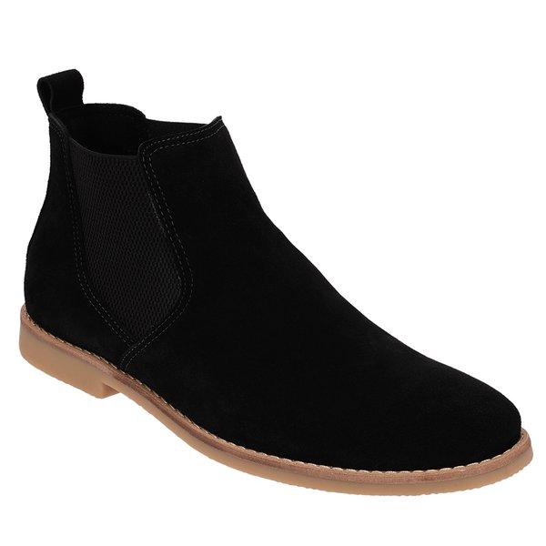 Botina Chelsea Boots ESCRETE Em Couro Camurça Preta 502 98adef383a4ac