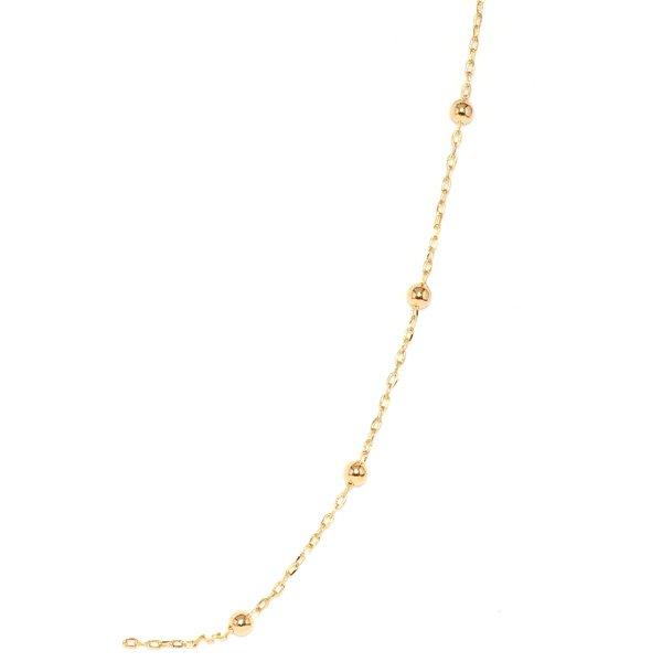 Corrente de Ouro 18K Cartier com bolinhas de 2,3mm com 45cm