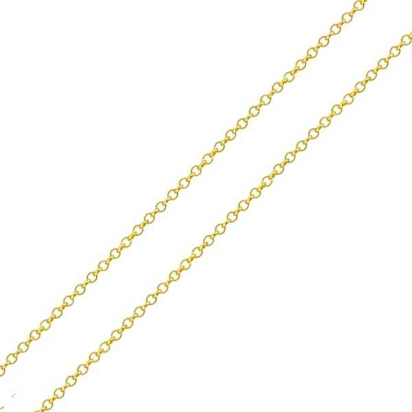 Corrente de Ouro 18K Elo Português de 1mm com 60cm