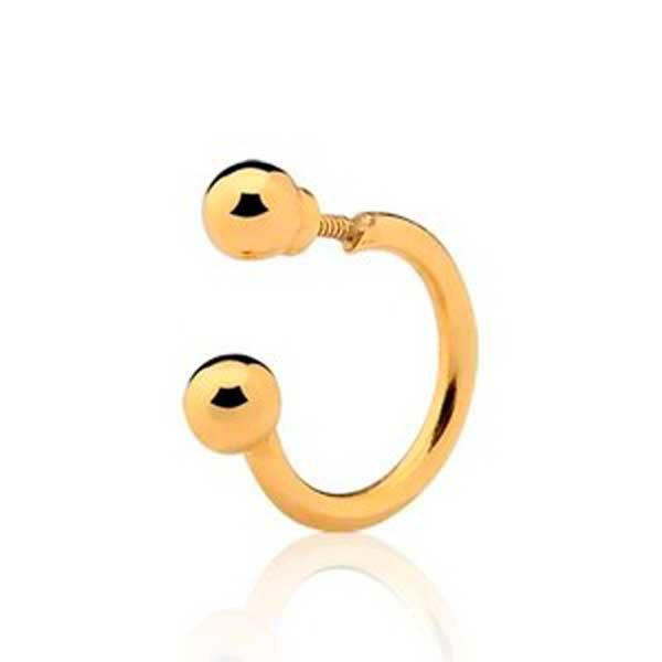 Piercing de Orelha, nariz ou targus de Ouro 18K Bolinhas