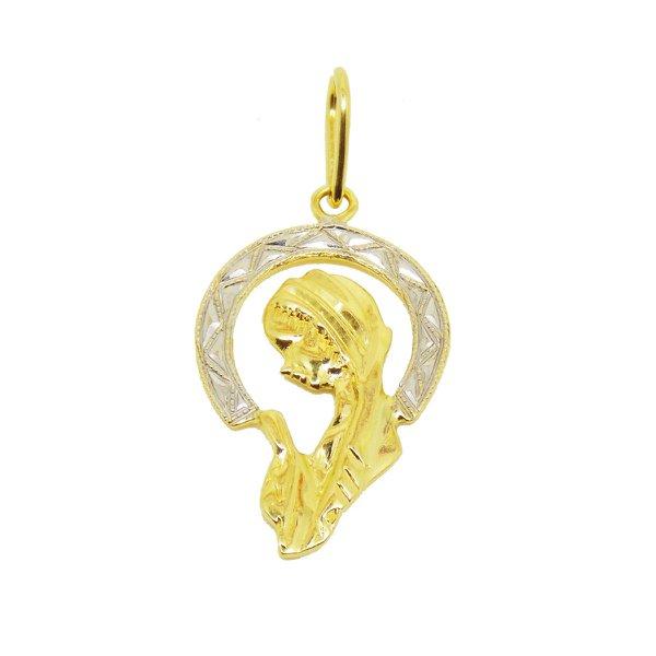 Pingente de Ouro 18K Maria mãe de Jesus