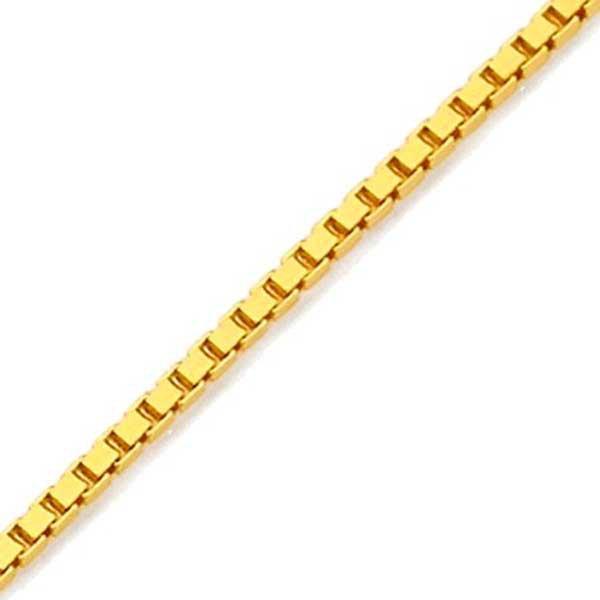 Pulseira de Ouro 18K Veneziana de 2,2mm com 19,5cm