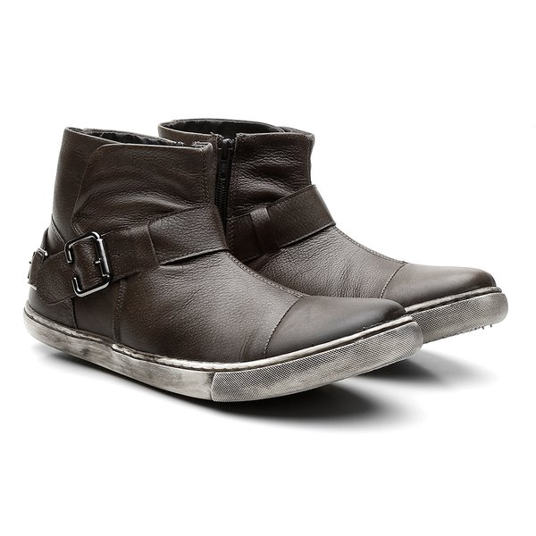 Bota Casual Bonnis Napa Stonada Chocolate