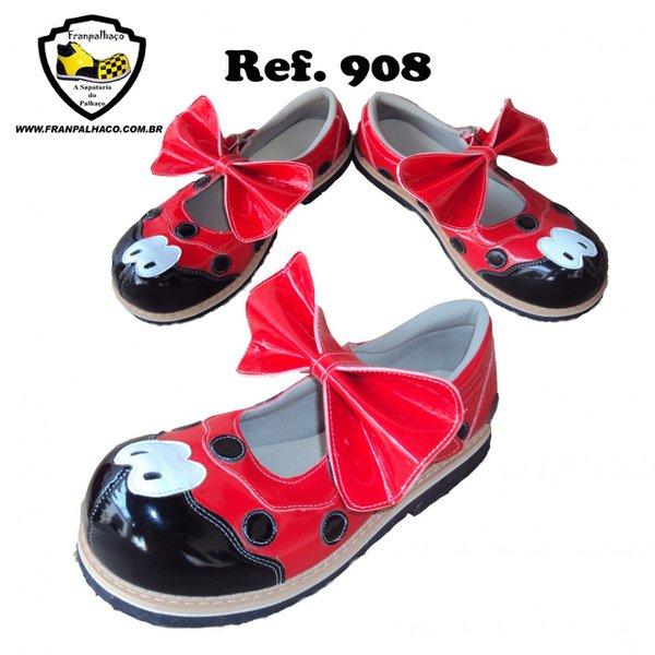 Sapato de Palhaço Feminino Joaninha Ref 908