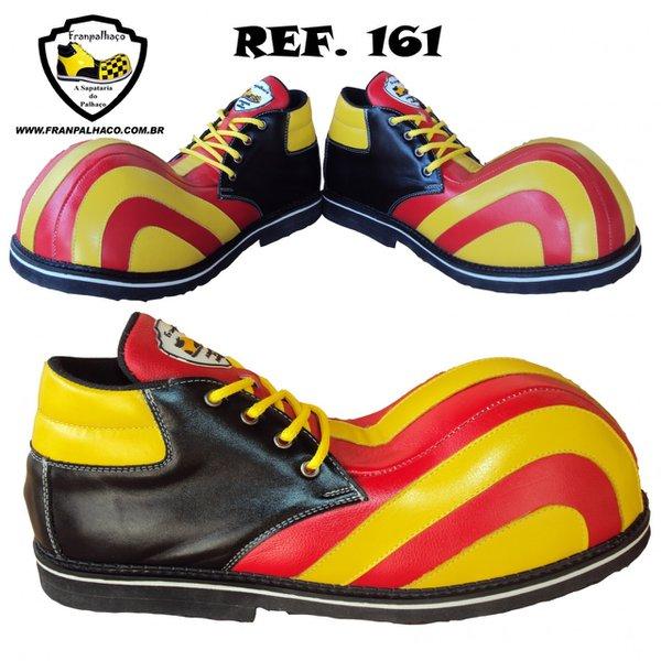 Sapato de Palhaço Listra Amarelo/Vermelho Ref 161 infantil