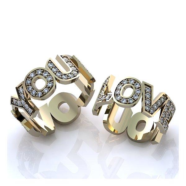 31f6da8465a Aliança de Casamento Love You com Diamantes - 0256AL