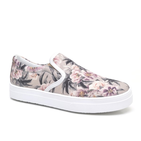 7acea505805 TÊNIS SLIP ON FEMININO JL SHOES FLORAL ROSA
