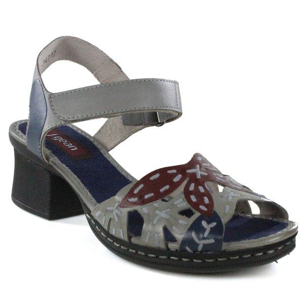 Sandália Em Couro Aço J.Gean BL0033