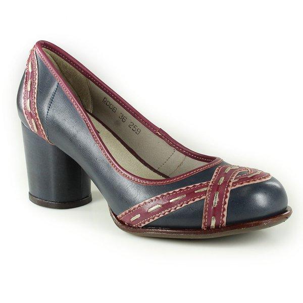 Sapato Em Couro Lolla Alto Blue J.Gean