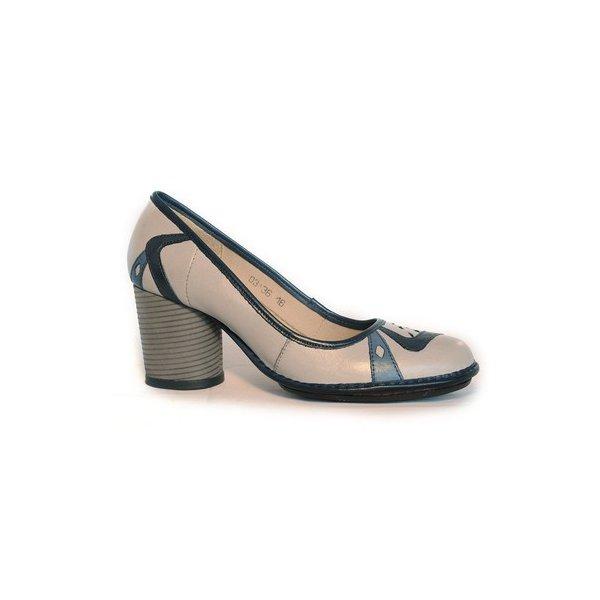 Sapato Em Couro Lolla Alto Platina J.Gean