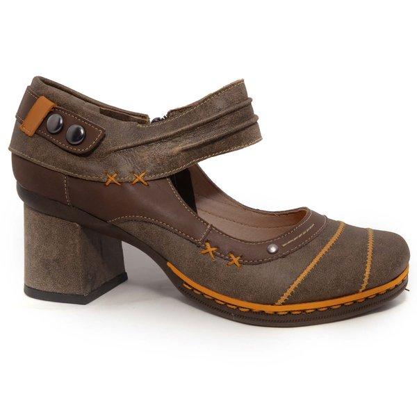 Sapato em Couro Desiree Café j.Gean