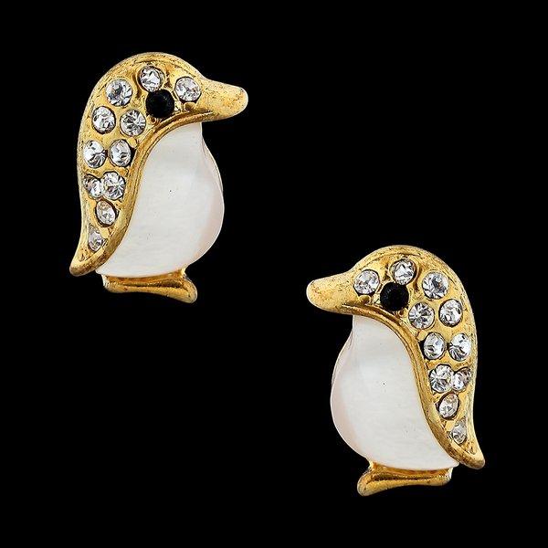 Brinco folheado à Ouro 18k Pinguim