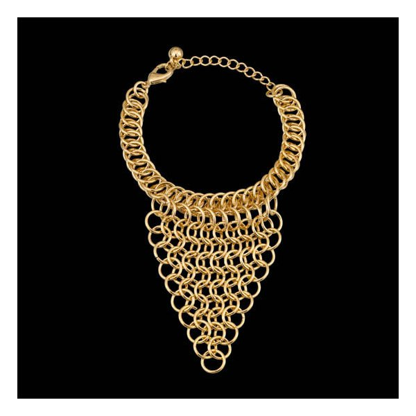 Pulseira folheada a ouro 18k franja