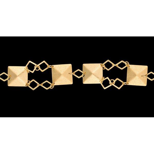 Pulseira bracelete folheada à ouro 18k obelisco