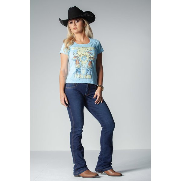 Camiseta Feminina Azul Sweet Texas Road