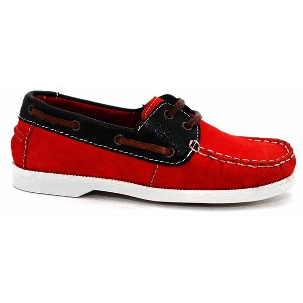 Dockside Infantil 050 nobuck latego vermelho preto sider gelo infantil