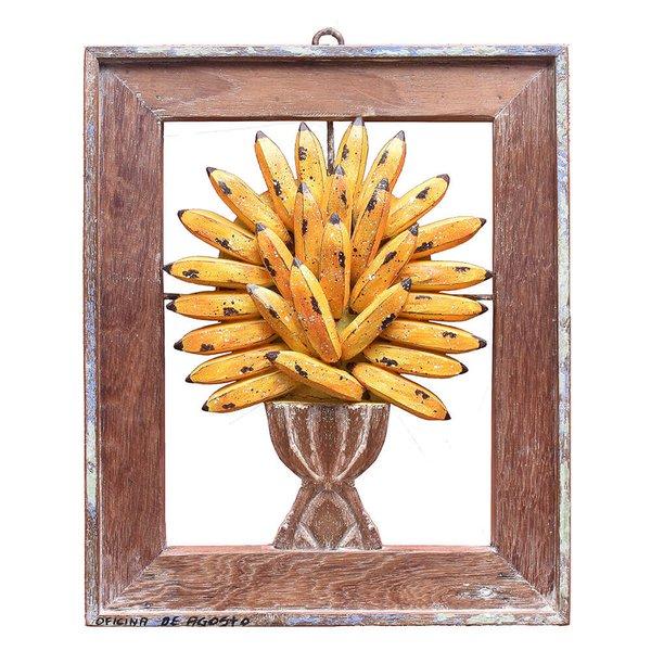 Quadro Pequeno de Ânfora com Bananas