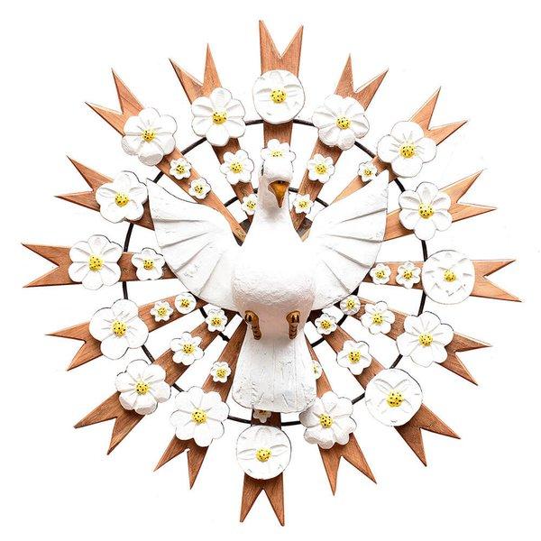 Divino Espírito Santo Resplendor com Esculturas de Flores 0,60 M.