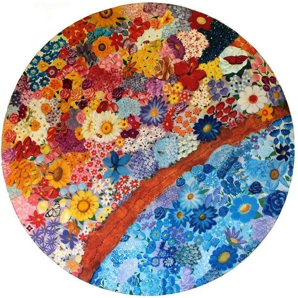 Pintura Mandala de Flores Grande