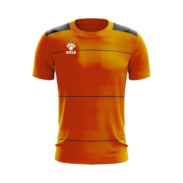 Camisa Jogo - Laranja com detalhe de listra no peito