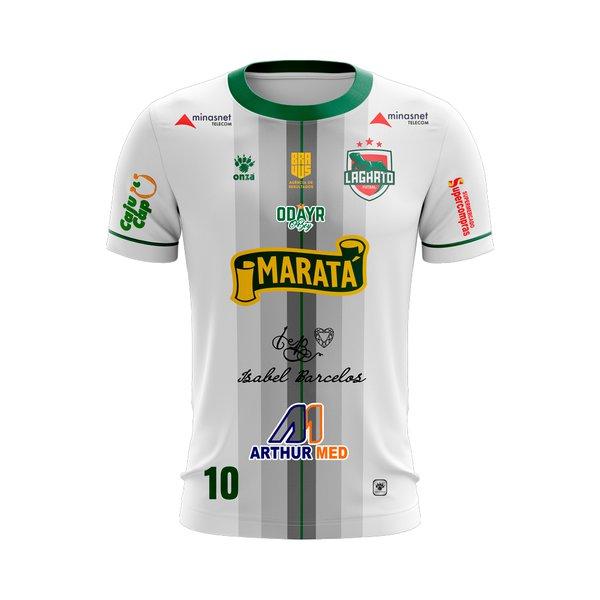 Camisa Branca Lagarto Futsal - Uniforme 2018 Copia