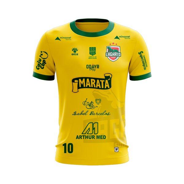 Camisa Amarela Lagarto Futsal - Uniforme 2018