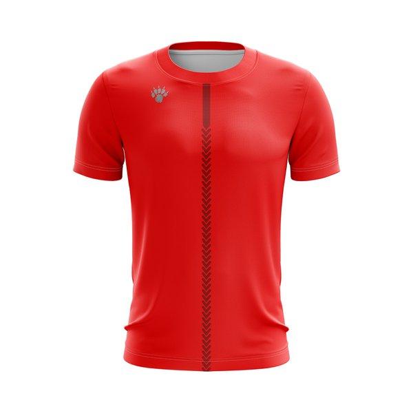 Camisa Casual Vermelha com barra