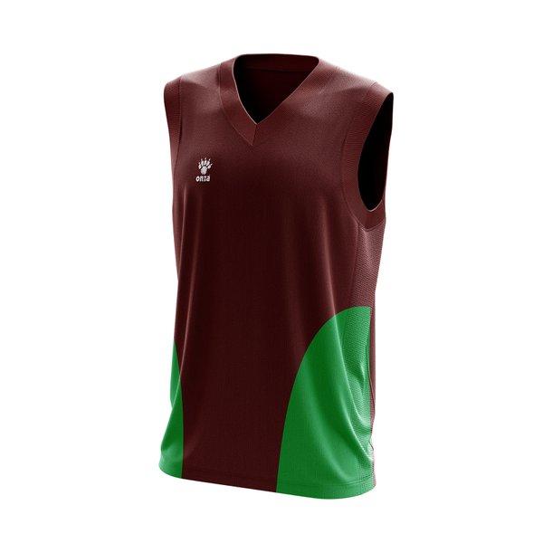 Camisa Regata Marrom com detalhes laterais