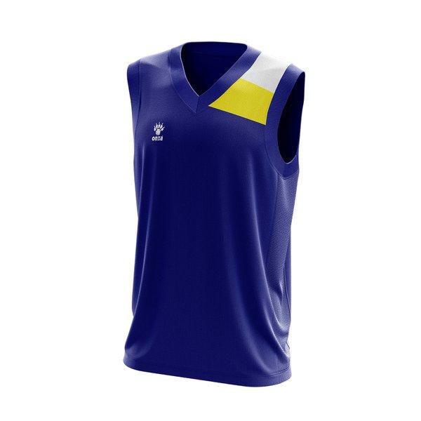 Camisa Regata Azul com detalhes no ombro