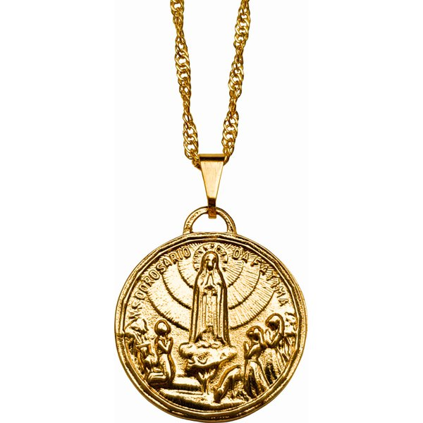 Gargantilha Folhada à Ouro Nossa Senhora de Fátima