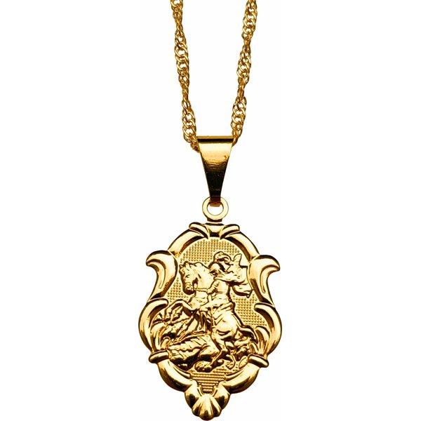 Gargantilha Folhada à Ouro São Jorge