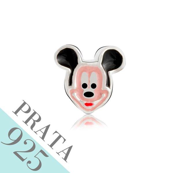 Pingente Carinha do Mickey Memories Prata 925 Esmaltado