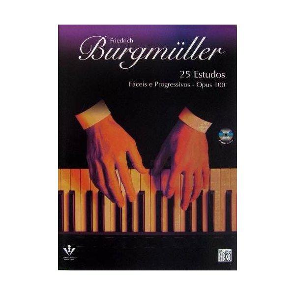 Método Para Piano Burgmuller 25 Estudos Com CD