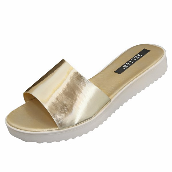Chinelo Slide Selten Lisa Ouro Ligth 101