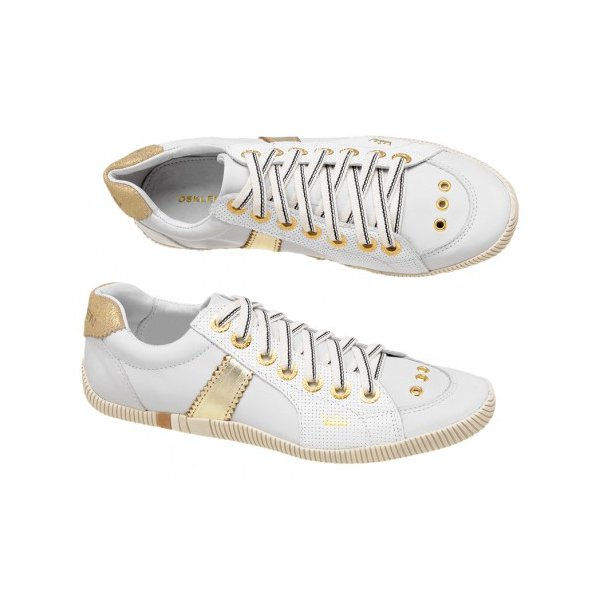 b8b34355d83 Tenis Sapatenis Osklen Feminino Branco Com Dourado