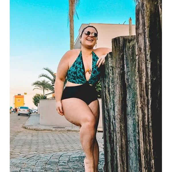 Smart Body Plus Size Estilo Renda Verde