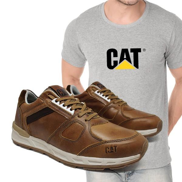 Tênis Woodward Cevada + Camiseta Cinza