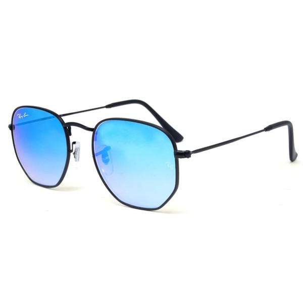 Óculos Ray Ban Hexagonal Flat Lenses - Azul Bebe