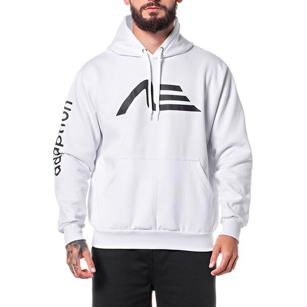 Moletom Masculino Adaption Logo Branco